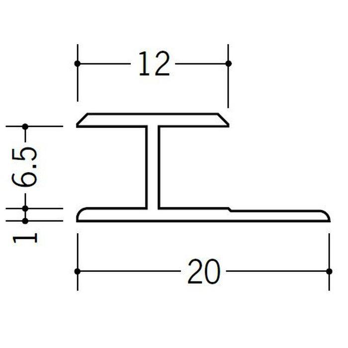 H型ジョイナー ビニール HG-6.5 ホワイト 2.42m  35035-2