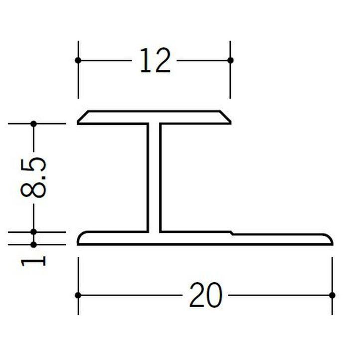 H型ジョイナー ビニール HG-8.5 ホワイト 2.42m  35040-2