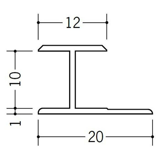H型ジョイナー ビニール HG-9.5 ホワイト 2.42m  35036-2