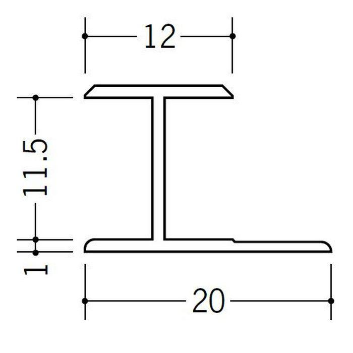 H型ジョイナー ビニール HG-11.5 ホワイト 2.42m  35029-2
