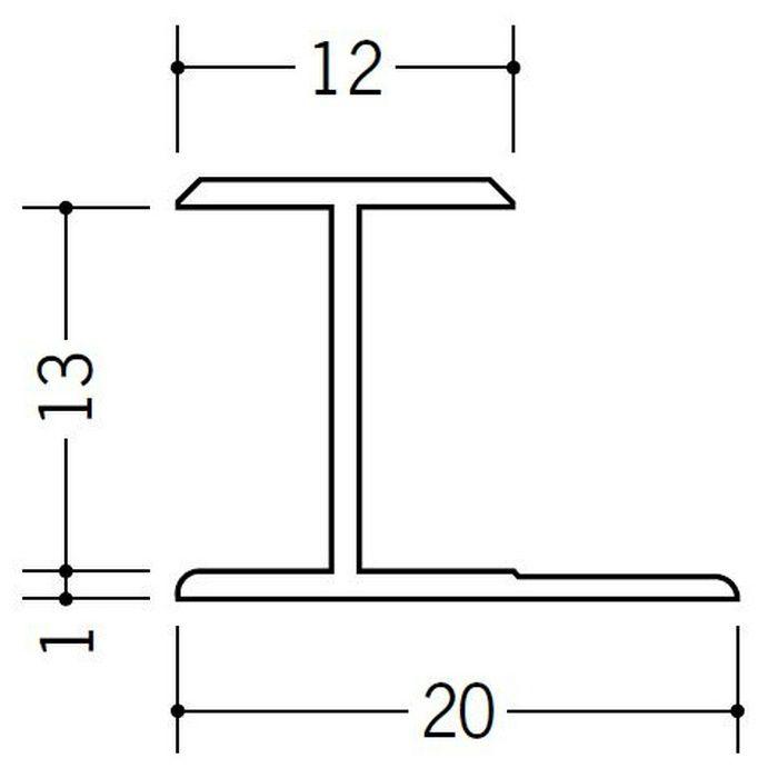 H型ジョイナー ビニール HG-12.5 ホワイト 2.42m  35037-2