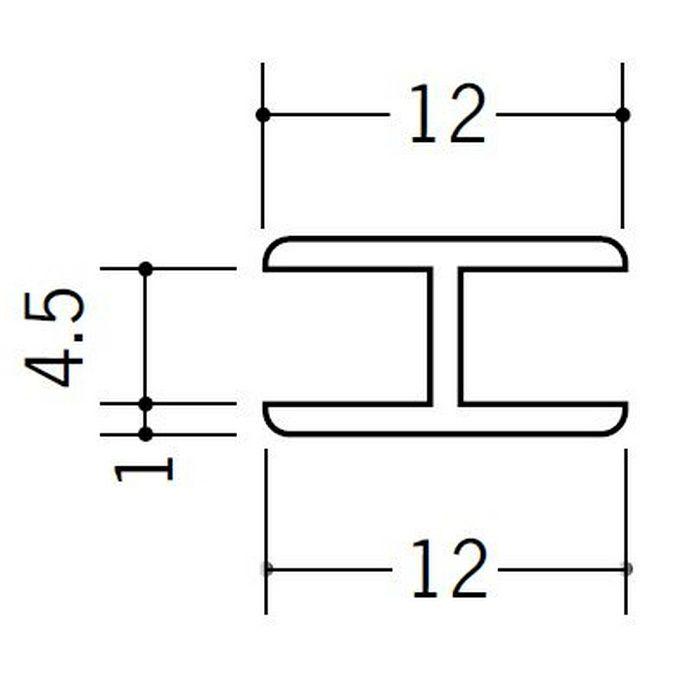 H型ジョイナー ビニール 4.5HHP ホワイト 2.73m  36171