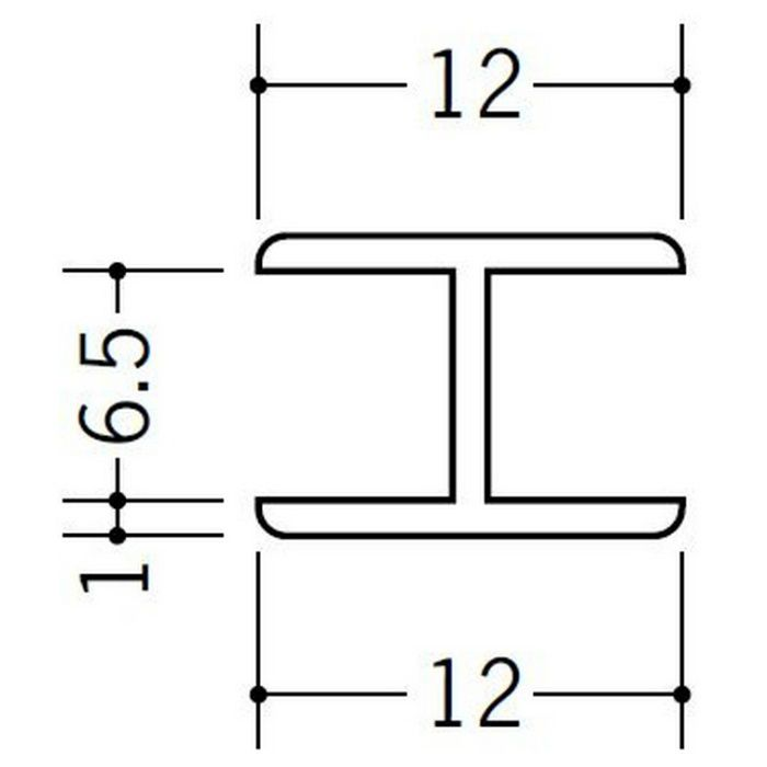 H型ジョイナー ビニール 6.5HHP ホワイト 2.73m  36173