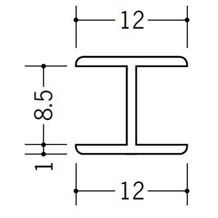H型ジョイナー ビニール 8.5HHP ホワイト 2.73m  36174