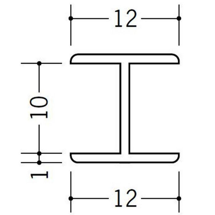H型ジョイナー ビニール 10HHP ホワイト 2.73m  36175