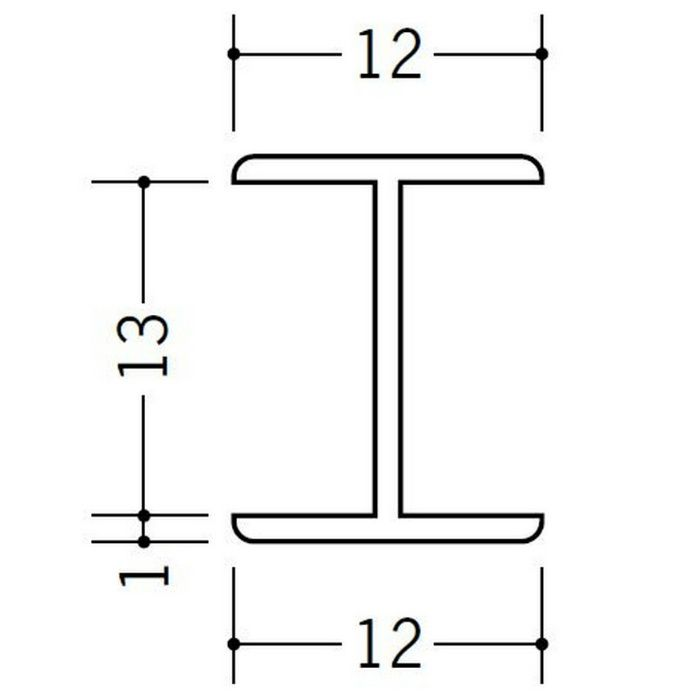 H型ジョイナー ビニール 13HHP ホワイト 2.73m  36176