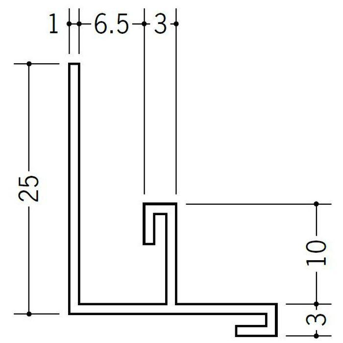 入隅ジョイナー ビニール BFX-6.5 ホワイト 2.73m  33231