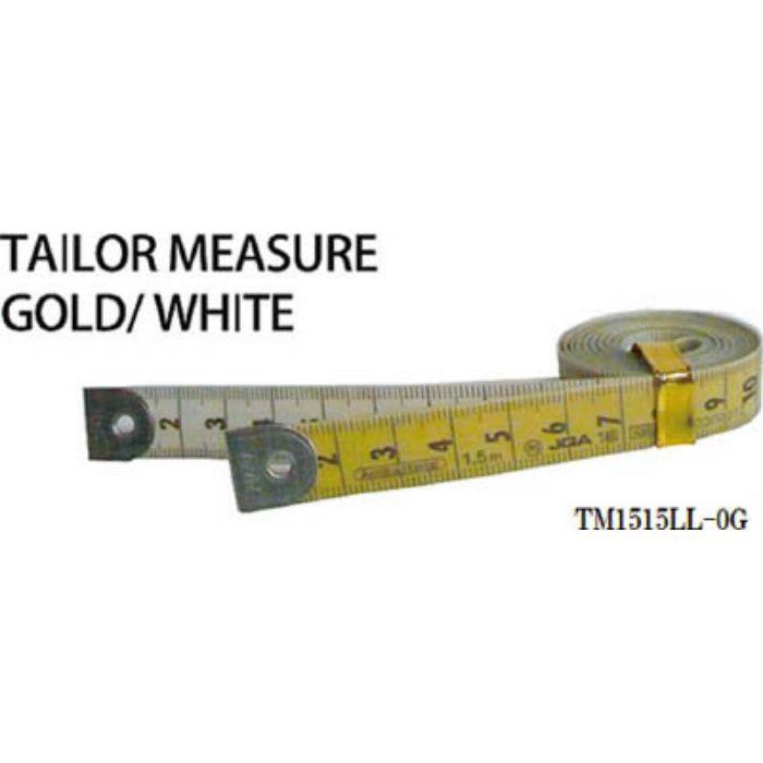 TM1515LL0G テーラーメジャー1.5m 0点 白/ゴールド