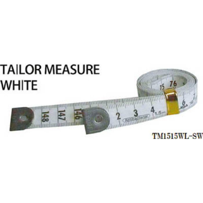 TM1515WLSW テーラーメジャー1.5m 余白有 白/白