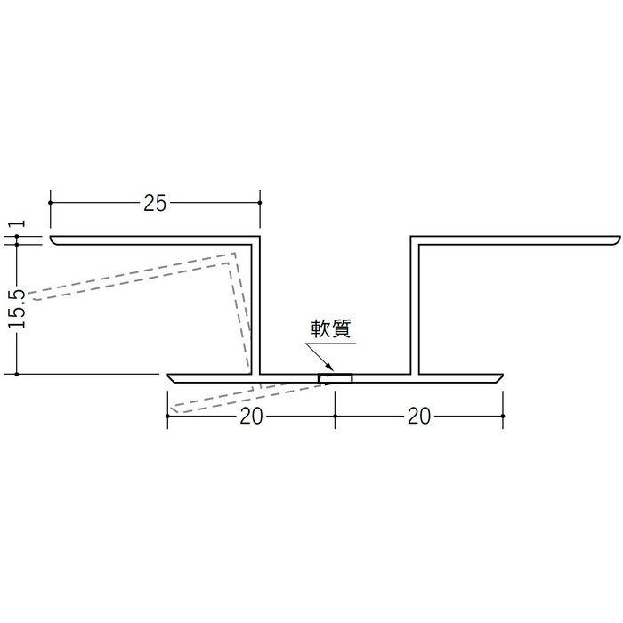 角度フリージョイナー 出入隅 ビニール KF-15 ホワイト 2.5m  37014