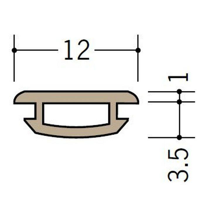 ハット型ジョイナー ビニール 軟質キャップ(FH用) ベージュ 30m  53099-2
