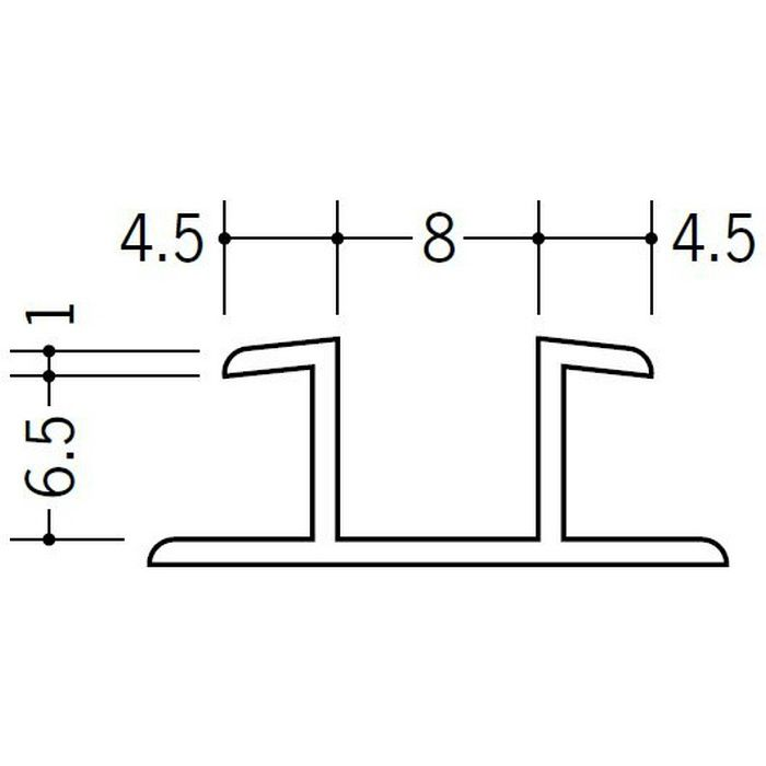 ハット型ジョイナー ビニール ハット型6 ホワイト 1.82m  36063