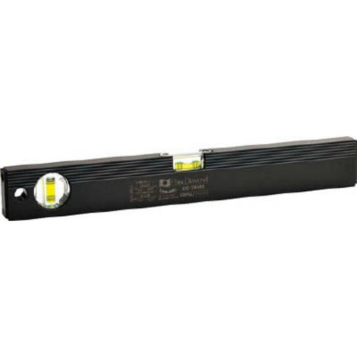 ED38MB 磁石付ベーシックレベルブラック380mm ブラック/グリーン