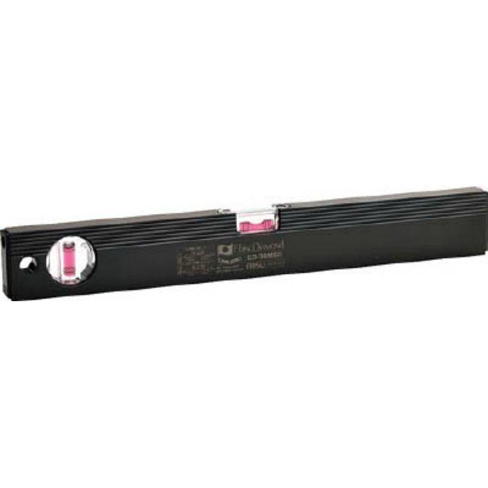 ED38MBR 磁石付ベーシックレベルブラック 380mm ブラック/レッド