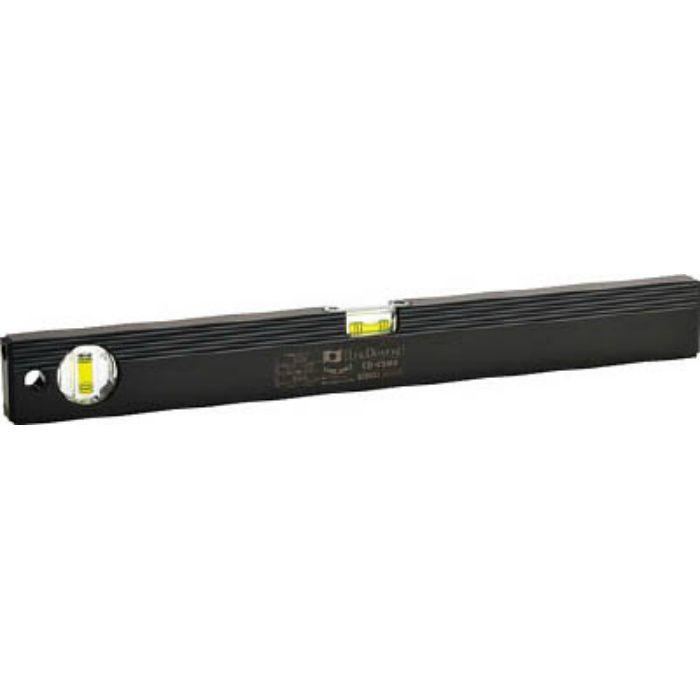 ED45MB 磁石付ベーシックレベルブラック450mm ブラック/グリーン