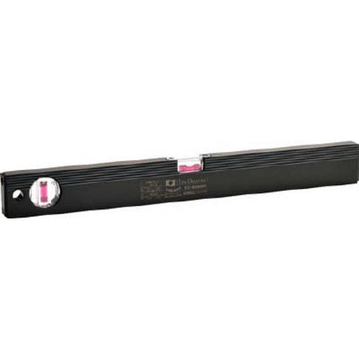 ED45MBR 磁石付ベーシックレベルブラック 450mm ブラック/レッド