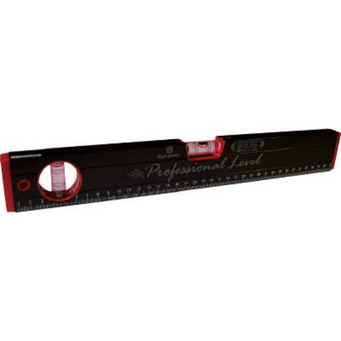 RB270M380MM マグネット付 箱型アルミレベル(黒×赤)