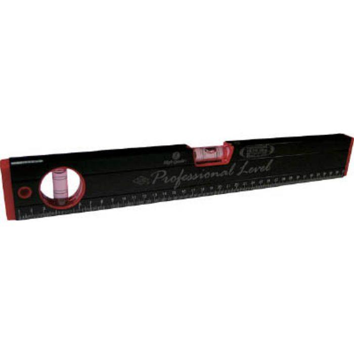 RB270M450MM マグネット付 箱型アルミレベル(黒×赤)