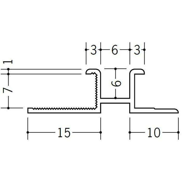 ハット型ジョイナー ビニール PM-6×7 ホワイト 1.82m  35152