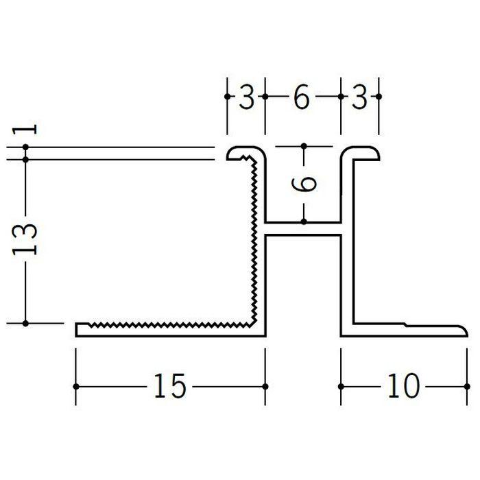 ハット型ジョイナー ビニール PM-6×13 ホワイト 1.82m  35155