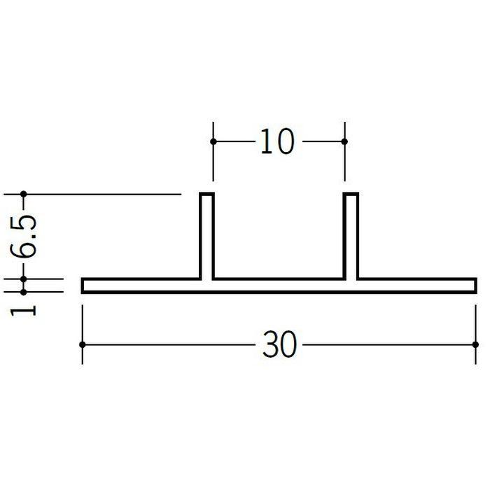 ハット型ジョイナー ビニール PW-0 ホワイト 2.5m  37076