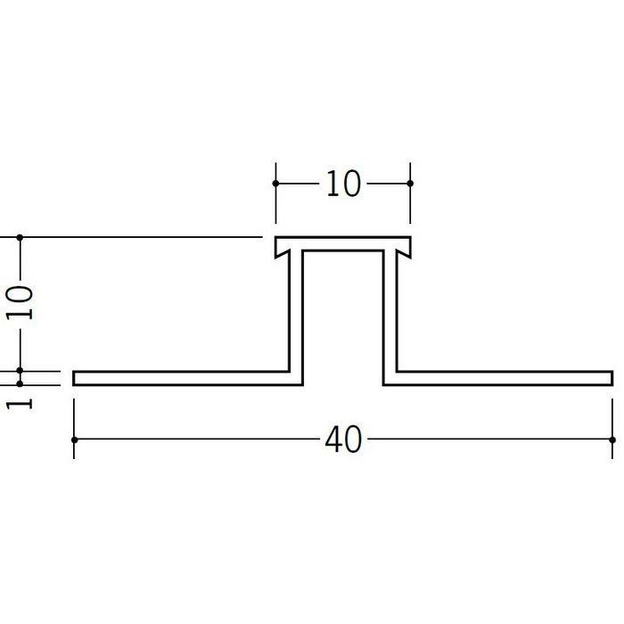 ハット型ジョイナー ビニール SJR-1010 ホワイト 2.73m  35183
