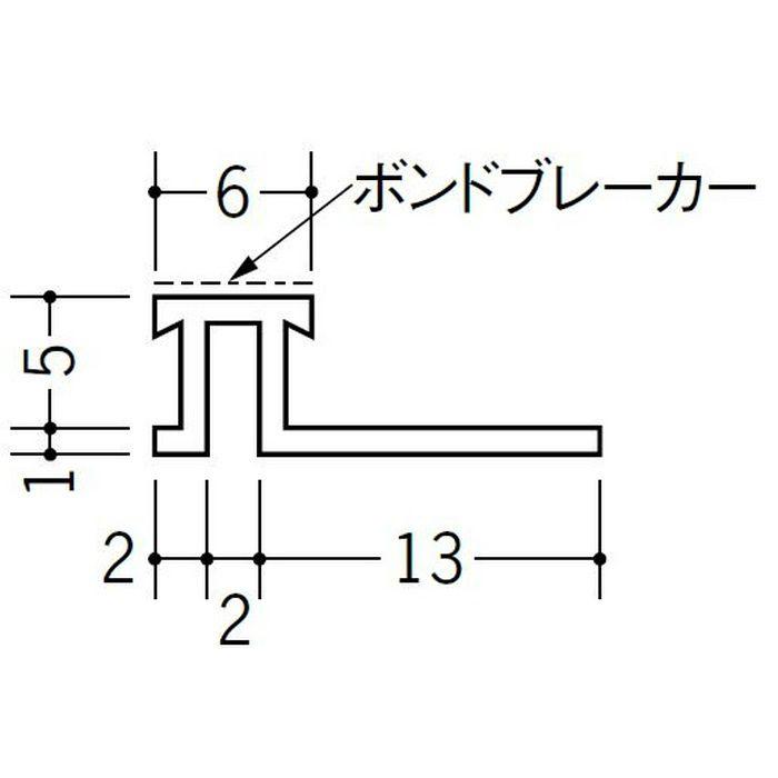 ハット型ジョイナー サイディング用 ビニール SJK-6B ホワイト 2.73m  35194