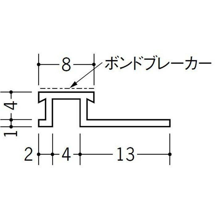 ハット型ジョイナー サイディング用 ビニール SJK-8B ホワイト 2.73m  35195