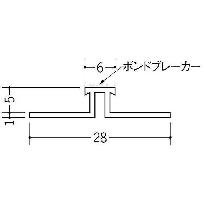 ハット型ジョイナー サイディング用 ビニール SJR-65B ホワイト 2.73m  35204