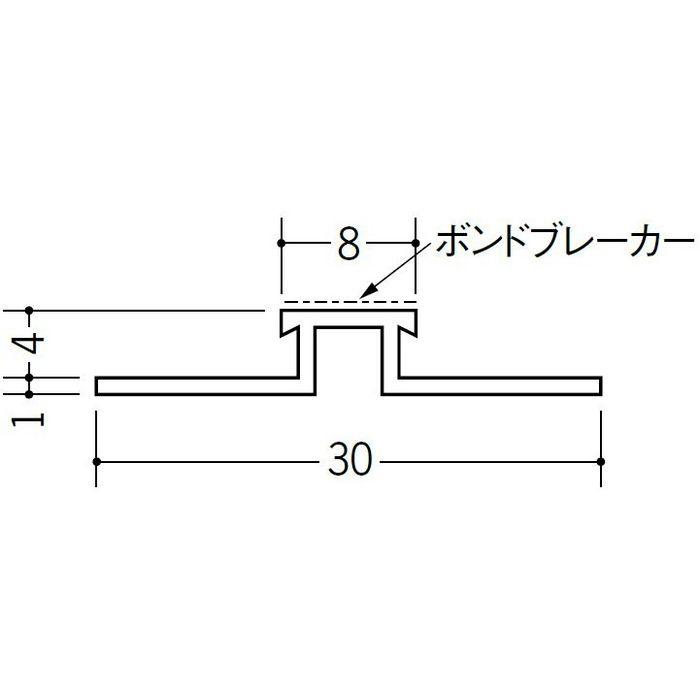 ハット型ジョイナー サイディング用 ビニール SJR-84B ホワイト 2.73m  35205