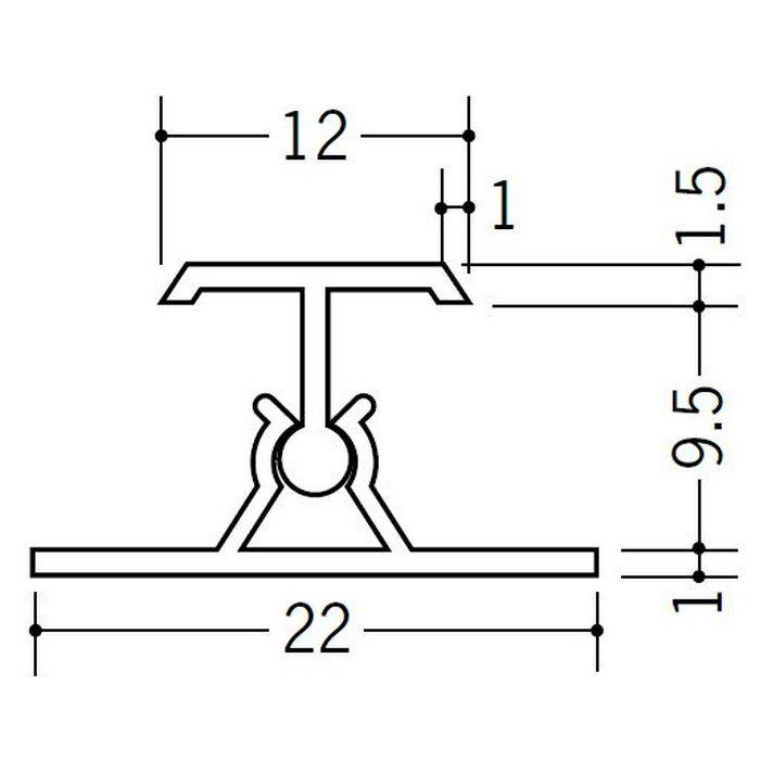 カンゴウジョイナー H型・コ型 ビニール カンゴウジョイナーKH-9.5 ホワイト 2.5m  31203
