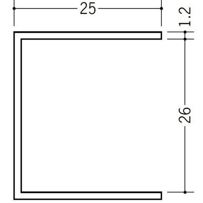 断熱材用ジョイナー コ型 ビニール BSC-26 ホワイト 2.73m  35131-1