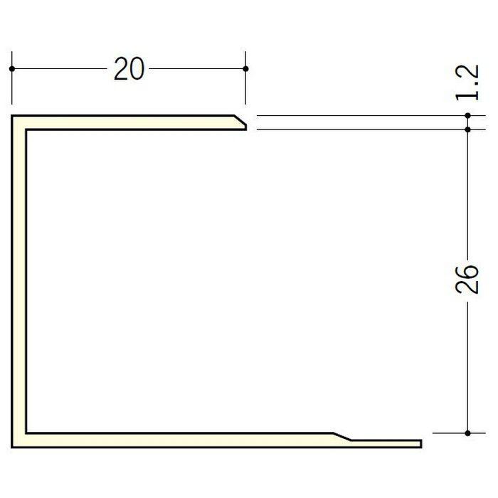 断熱材用ジョイナー コ型 ビニール コ型26 クリーム 2.73m  35064-2