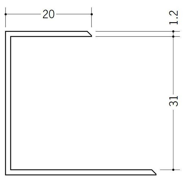 断熱材用ジョイナー コ型 ビニール コ型31 クリーム 2.73m  35066-2