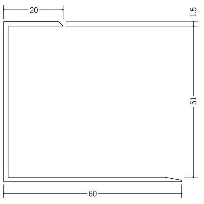 断熱材用ジョイナー コ型 ビニール コ型51 クリーム 2.73m  35065-2