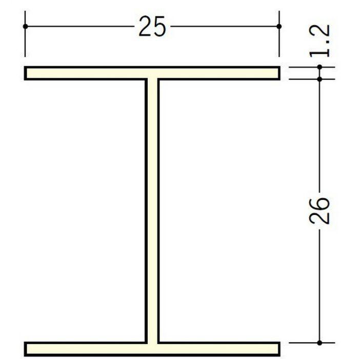 断熱材用ジョイナー H型 ビニール BSH-26 クリーム 2.73m  35123-2