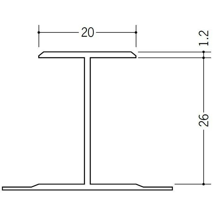 断熱材用ジョイナー H型 ビニール H型26 グレー 2.73m  35061-3