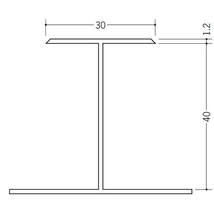 断熱材用ジョイナー H型 ビニール H型40 クリーム 2.73m  35092-2