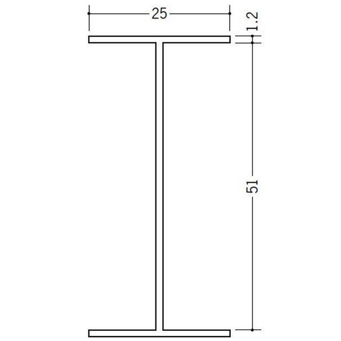 断熱材用ジョイナー H型 ビニール BSH-51 ホワイト 2.73m  35126-1