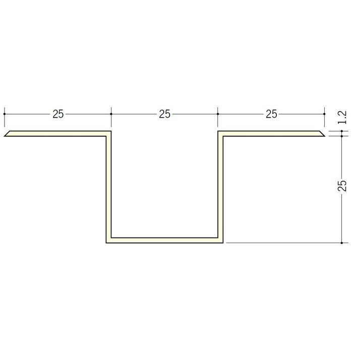 断熱材用ジョイナー ハット型 ビニール ハット型25 クリーム 2.73m  35067-2