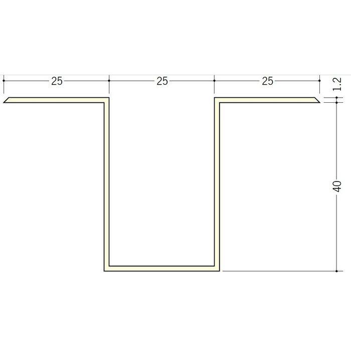 断熱材用ジョイナー ハット型 ビニール ハット型40 クリーム 2.73m  35098-2