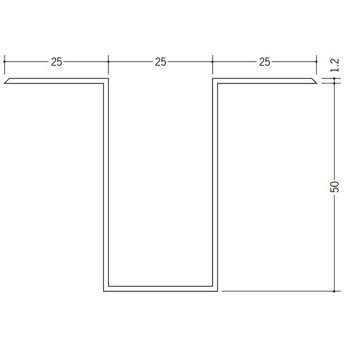 断熱材用ジョイナー ハット型 ビニール ハット型50 クリーム 2.73m  35068-2