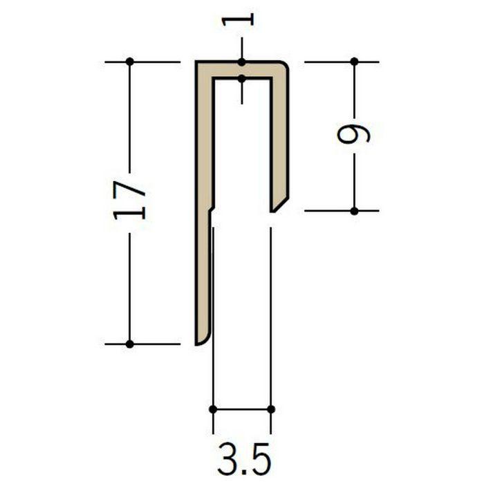 立ち上げ見切 ビニール GC-3.5カラー アイボリー 2.73m  32001-2