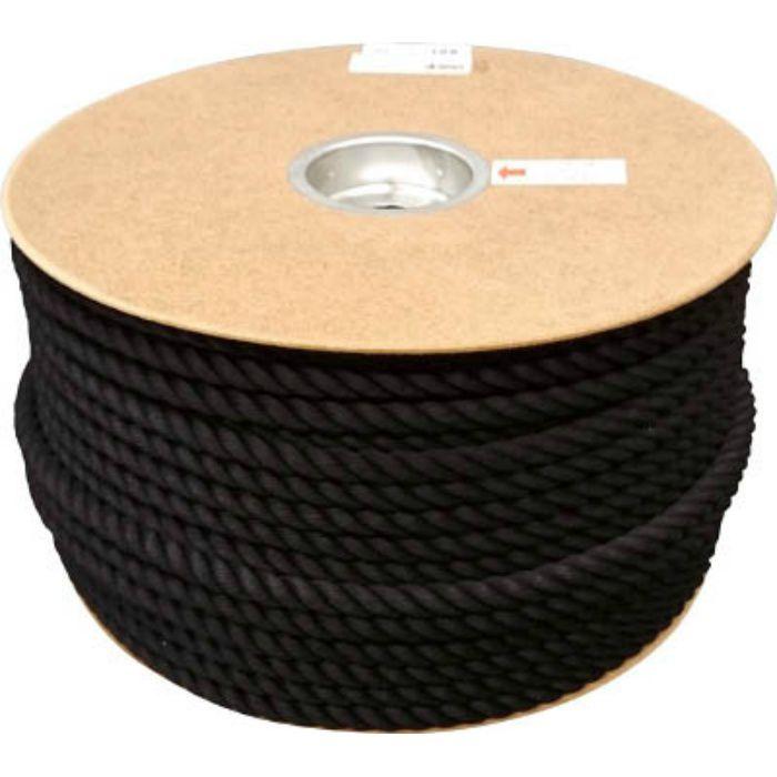 PRS61 ポリエステルロープ ドラム巻 12φ×100m 黒