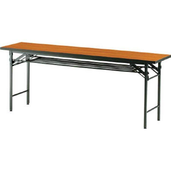 TCT1845 折りたたみ会議テーブル 1800X450XH700 チーク