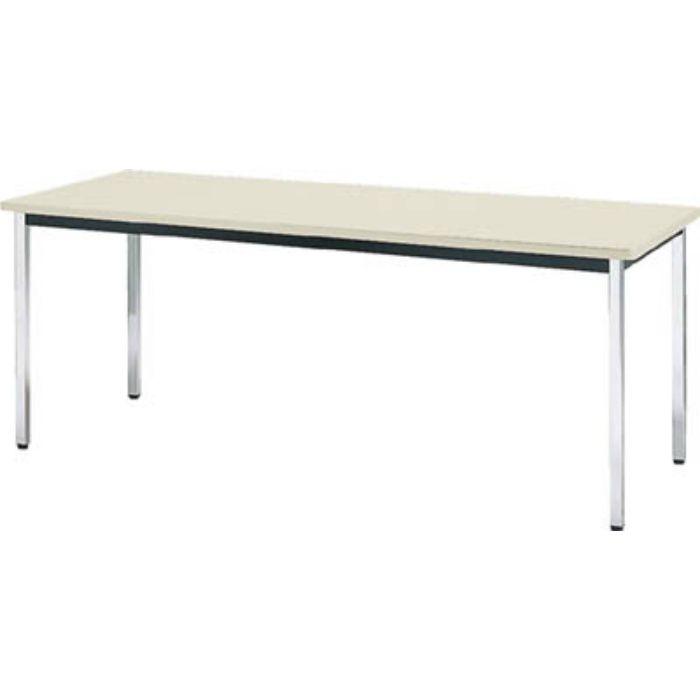 TDS1845 会議用テーブル 1800X450X700 角脚 下棚無し ネオグレー