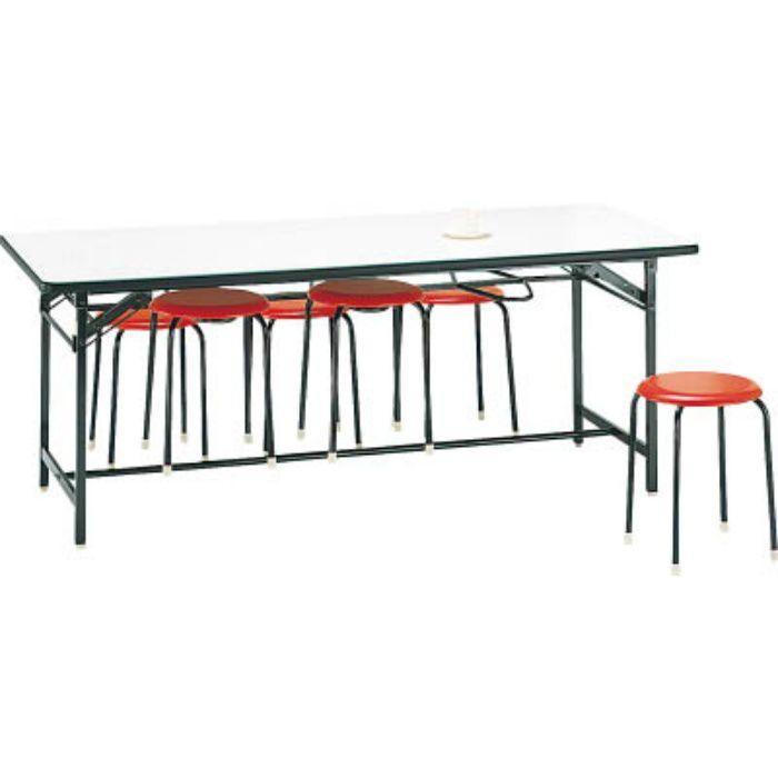 DY1875S 食堂用テーブル ソフトエッジ 1800×750mm アイボリ