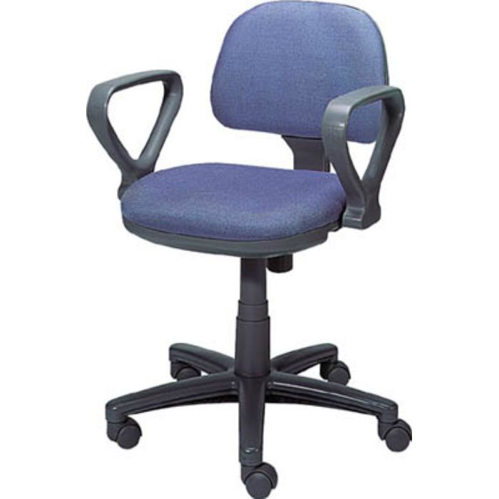 FST3A オフィスチェア 布張り 肘付 青