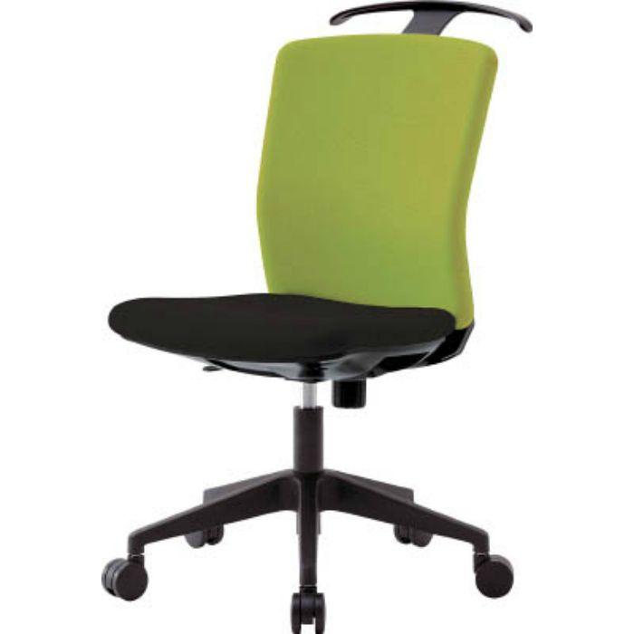 HGXCKR46M0FLGN ハンガー付回転椅子(フリーロッキング) グリーン/ブラック