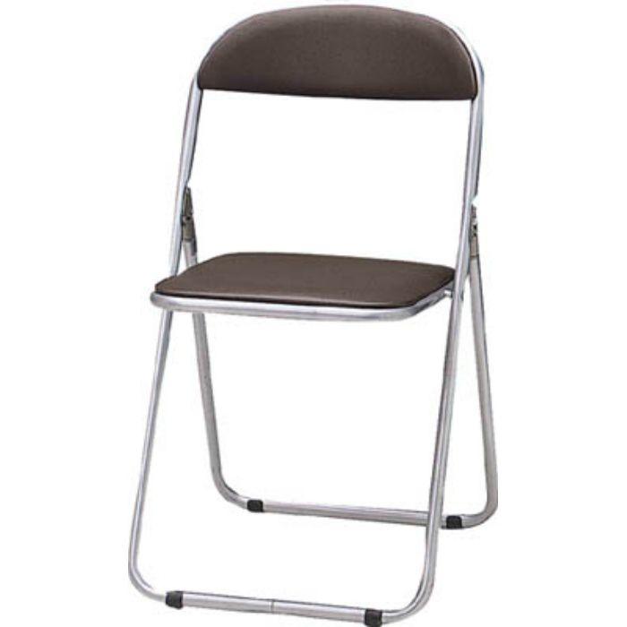 FC1000TS 折りたたみパイプ椅子 ウレタンレザーシート貼り ブラウン